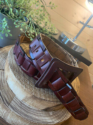 £5.99 • Buy NWOT Brown Woven Thick Leather Jeans Belt Waist Size 32  - 38  Leather Buckle