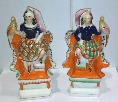 £29.99 • Buy Antique Staffordshire Figures, Great Condition,  19  Cms High