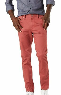 $ CDN28.92 • Buy Dockers Mens Pants Red Size 38X30 Slim Fit Flat Front Chino Stretch $72 #302