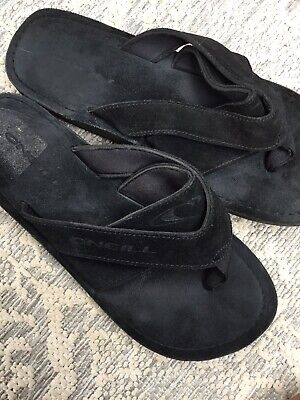 £3 • Buy Mens O'neill Black Suede Toe Post Flip Flops / Sandals / Shoes Size 9 Fab