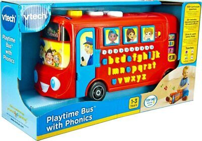 £21.67 • Buy Vtech 150003 Playtime Bus Educational Playset, Learning Toy With Phonic Red