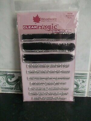£3.95 • Buy WOODWARE CLEAR MAGIC ~ Strokes And Words ~ FRS749 ~ BNIP