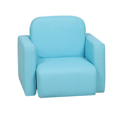 £19.99 • Buy Toddler Mini Sofa Activity Table Chair Set 3-in-1 Blue Armchair Boys Kids Padded