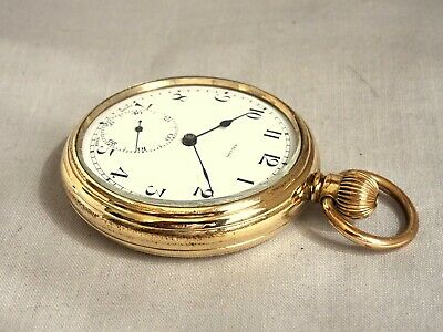 £28 • Buy 1920s 7 Jewel Swiss R/Gold Gents Pocket Watch. Checked & Working Well. Antique