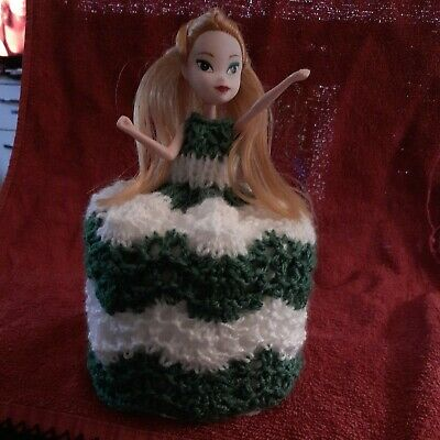 £5.75 • Buy Retro Toilet Roll Cover Doll Hand Knitted #10