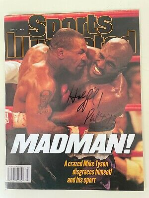 £14.62 • Buy SPORTS ILLUSTRATED July 7, 1997 TYSON BITES HOLYFIELD Autograph Signed NO LABEL