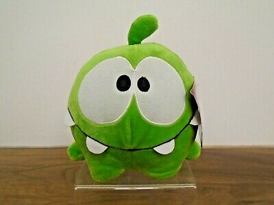 """£4.99 • Buy Commonwealth Cut The Rope 5"""" OM NOM Green Happy Hungry Stuffed Animal Plush NEW"""