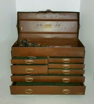 $175 • Buy 1920s Rare Early Kennedy Kits, Machinist Tool Box No. 520 W/D Ring Drawer Pulls
