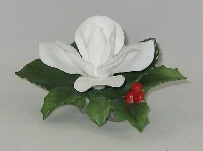 $ CDN50.35 • Buy Boehm Porcelain Flower Sculpture  CHRISTMAS ROSE WITH HOLLY  F434 / Showroom New