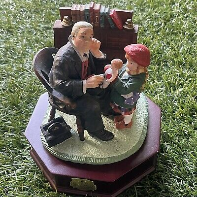 $ CDN49.78 • Buy Dave Grossman Norman Rockwell Saturday Evening Post The Doctor And Doll Figurine