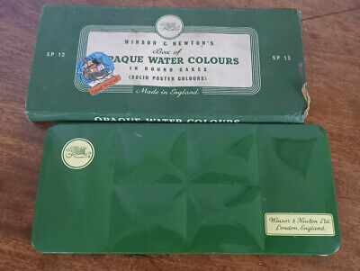 £5.19 • Buy Vintage Winsor & Newton Paint Box Sp12 Water Colours With Original Box - A/f