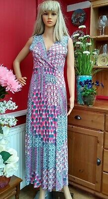 £12.50 • Buy Braintree Bamboo/org.cotton Blend Fade In/out Panels Maxi Dress Size L(chest 36