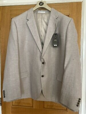 $34.94 • Buy Bnwt M&s Tailored Fit Linen Miracle Blazer/ Jacket 52 Long .neutral