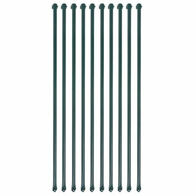 £33.98 • Buy 10 Pieces Garden Fence Post 1 M Metal Green Fencing Plant Supports Stakes X6L4