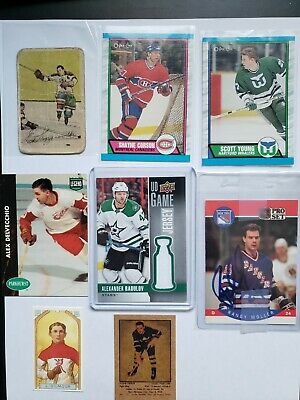 $ CDN4.99 • Buy Mystery Hockey Cards Lot NHL Possible Auto, Jersey Card, Old Cards, Rookie,grade
