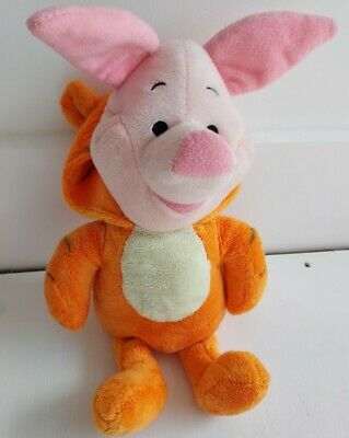 £5.99 • Buy Disney Poncho Piglet Dressed As Tigger Plush Soft Toy Teddy Collectable