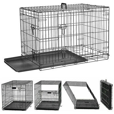 £37.99 • Buy Dog Cage Puppy Pet Crate Carrier - Small Medium Large S M L XL XXL Metal Cage