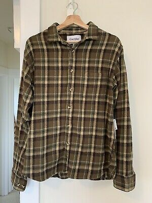 $115 • Buy Corridor NYC Fuzzy Olive Flannel Size M