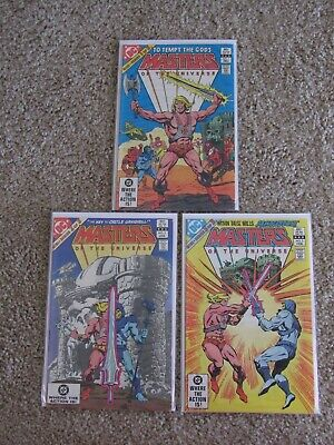 $81 • Buy Masters Of The Universe Complete 1982 Limited Series 1-3  He-Man, Skeletor
