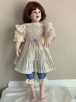 """£57.32 • Buy Vintage Porcelain Doll """"Sherry"""" By Donna Rubert"""" 32"""" Tall Blue Eyes"""