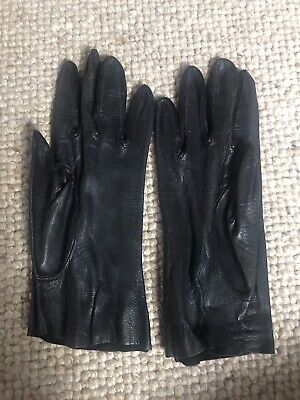 £7 • Buy Ladies Black Unlined Leather Gloves Size S