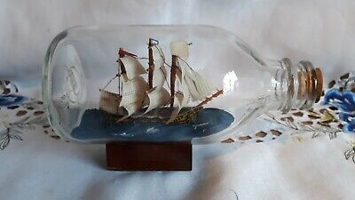 £8 • Buy Vintage Sailing Ship In A Bottle. Beautiful Condition All Sails Intact.