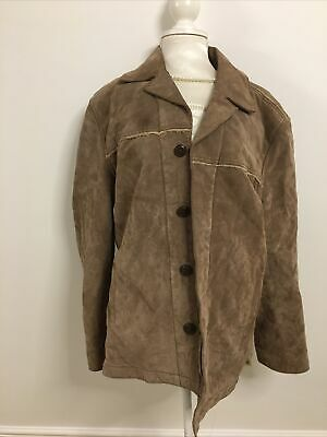 £22.99 • Buy Immaculate Next Mens 100% Leather Jacket Size Medium Beige Teddy Fur Lining COAT