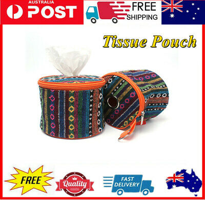 AU15.18 • Buy Toilet Paper Tissue Box Holder Roll Ethnic Handle Lid Storage Outdoor Camping AU