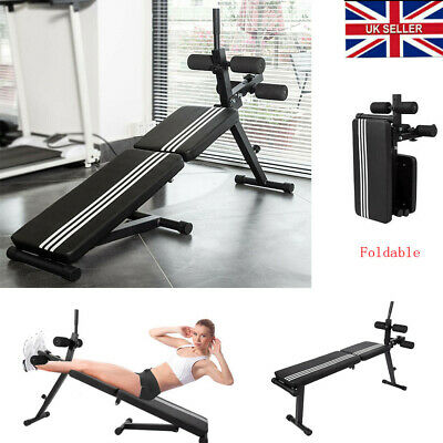 £79.90 • Buy Adjustable Fitness Foldable Sit Up Bench Core AB Workout Thigh Support Home Gym