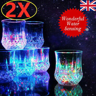 £7.49 • Buy 2X  Light Up Led Cola Glass Flashing Party Cup BEST GIFT UK SHIPPING