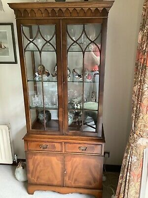 £25 • Buy Reproduction Mahogany Display Cabinet - Excellent Quality And Condition 1990s