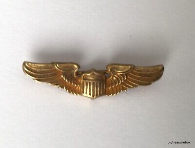$2.75 • Buy Vtg ANTIQUE Brooch Pin MARKED 10K GOLD FILLED Military Wings Art Deco Lot I