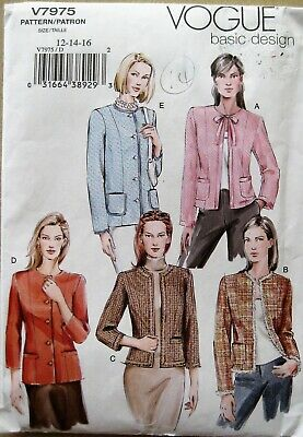 £2.20 • Buy Vogue   Sewing Pattern  For  Ladies  Jackets      12-16