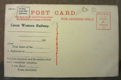 £2.20 • Buy LYNMOUTH, DEVON. GREAT WESTERN RAILWAY, Antique Postcard Letter Received Confirm