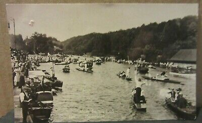£2 • Buy OUTSIDE BOULTERS LOCK, MAIDENHEAD, BERKSHIRE Used Postcard RP  1916 Pm THAMES