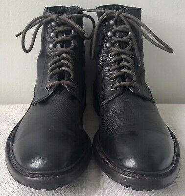 $129.95 • Buy Frye Men's Greyson Black Deerskin Lace Up Ankle Boot 10.5 M Made In Italy ($398)