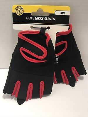 £7.20 • Buy GOLDS GYM Men's Tacky Gloves Ventilated Mesh Weight Lifting Size M/L NEW