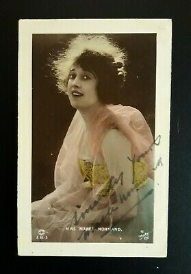 $49.95 • Buy MABEL NORMAND Signed Vintage Real Photo Postcard MACK SENNETT Fatty Arbuckle