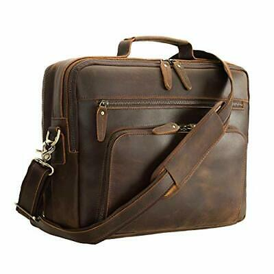 $196.99 • Buy Polare 15.7  Leather Briefcase For Men Handcrafted Business Full Grain Brown