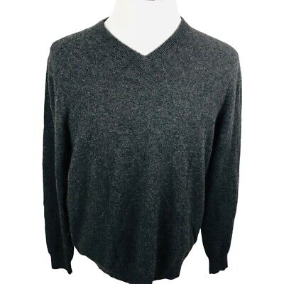 $33.99 • Buy Allen Solly Mens Pullover Sweater Gray Marled V Neck Long Sleeve Cashmere L
