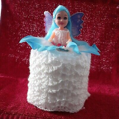 £5.75 • Buy Retro Toilet Roll Cover Doll Hand Knitted #12