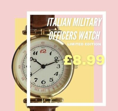 £8.99 • Buy 1920s Italian Army Officers  Military Style Quartz  Watch