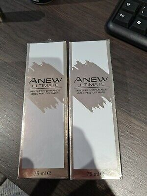 £14.99 • Buy AVON Anew Ultimate Multi-Performance Gold Peel Off Mask 75ml NEW In Box X2