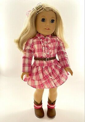 £15 • Buy American Girl Doll Western Plaid Outfit
