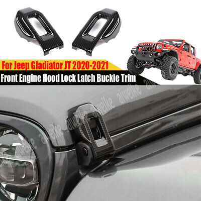 $28.99 • Buy For Jeep Gladiator JT 2020-2021 Carbon Front Engine Hood Lock Latch Buckle Trim