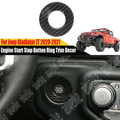 $13.99 • Buy Carbon Engine Start Stop Button Ring Trim Decor For Jeep Gladiator JT 2020-2021
