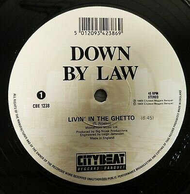 £3.99 • Buy Down By Law - Livin In The Ghetto - UK 12  Vinyl 1989 House EX/EX