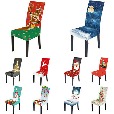 AU7.99 • Buy Christmas Style Elastic Dining Chair Cover Banquet Party Seat Chair Cover Decor