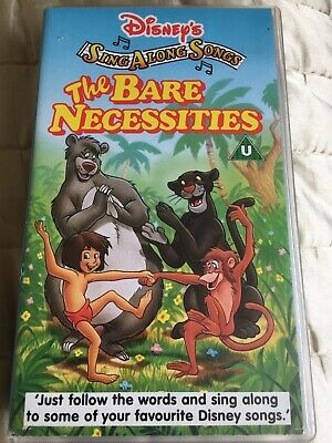 £4.99 • Buy Walt Disney Classic VHS Video Tape Sing Along Song The Bare Necessities
