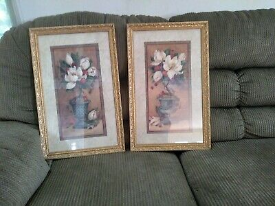 $59.99 • Buy Homco Home Interior Pair Of Magnolia Pictures By  Barbara Muck